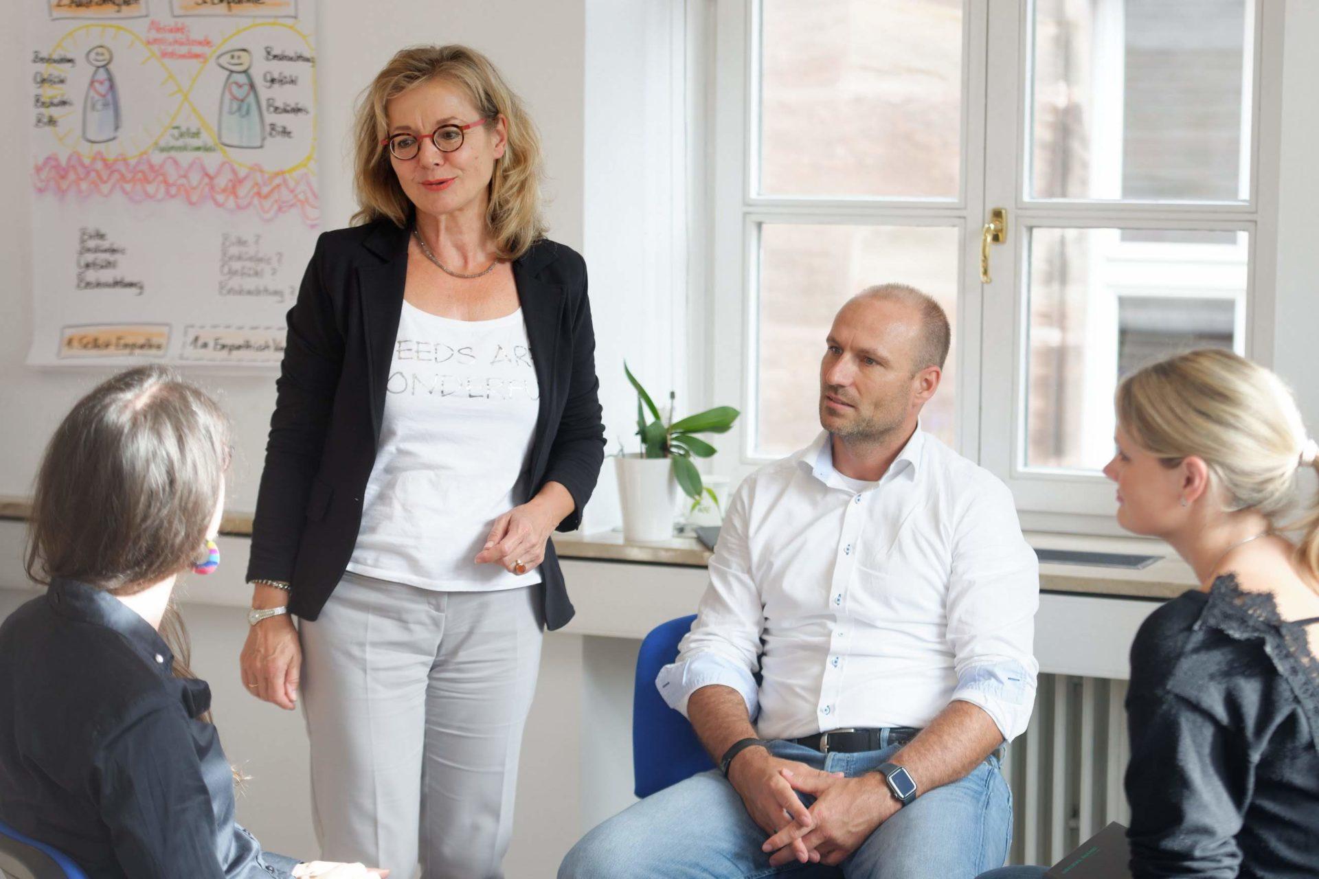 Gewaltfreie Kommunikation GFK Ausbildung Jahrestraining Nürnberg